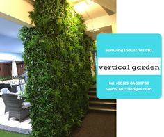 artificial verticial garden, living green walls