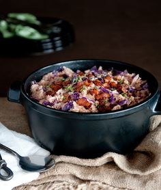 Risotto with Red Cabbage, Bacon and Apples from The Canadian Craft Beer Cookbook by David Ort