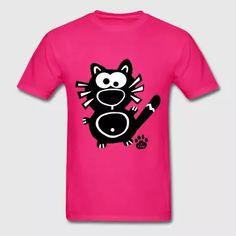 Little Cat Catpaw Design Meow Funny Cute Shirt   - Men's T-Shirt