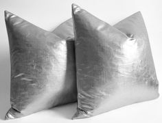 NEW - Metallic silver pillows - decorative pillows silver - silver pillow throw - pillow cover online14 16 18 20 22 24 26 28 30 lumbar