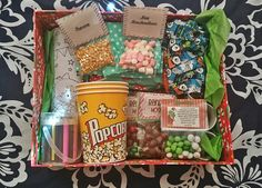 Christmas eve box!! Popcorn, xmas activities, reindeer noses, grinch pills, pj's, marshmellows, xmas cups, hot choc, the night before Christmas book! Christmas movie!