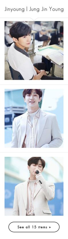 """""""Jinyoung   Jung Jin Young"""" by niisabel ❤ liked on Polyvore featuring kpop, boys, Jinyoung, B1A4 and jungjinyoung"""