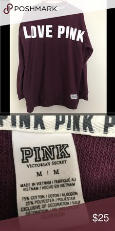 Victoria's Secret pink crew sweatshirt Brand-new without tags's. I was not a fan of the neck. Size medium but fits like a large. Perfect condition! PINK Victoria's Secret Tops Sweatshirts & Hoodies