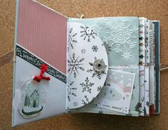 Snowflake Crate Paper Album_6 Crate Paper, Let It Snow, Mini Albums, Crates, Snowflakes, Stampin Up, Projects, Ink, Paper