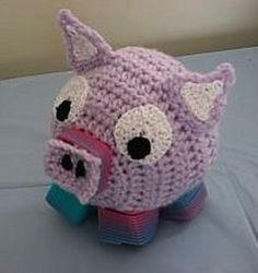 Spring Pig Toy - Free by Donna Collinsworth of Donna's Crochet Designs / Pigs - Animal Crochet Pattern Round Up - Rebeckah's Treasures