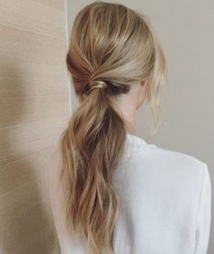 40 Classic Ponytail Hairstyles, HAİR STYLE, Sleek and low ponytail by Gabrielle Roccuzzo. Low Pony Hairstyles, African Braids Hairstyles, Older Women Hairstyles, Weave Hairstyles, Cool Hairstyles, Wedding Hairstyles, Bridal Ponytail, Loose Ponytail, Sleek Ponytail