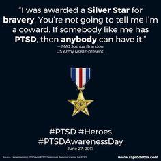 Anybody can have PTSD.  Anybody.  #PTSD #PTSDAwarenessDay #MentalHealth #MentalHealthMatters