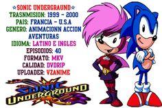 VZANIME: Sonic Undergraund Latino e Ingles formato MKV