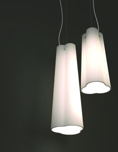 Carrot suspension lamp featuring a woven shade made of 5 mm silos pendants by eureka this subtle pendant design has a blown glass form that greentooth Choice Image