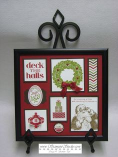 Stampin' Studio - Tina Rappe, Independent Stampin' Up! Christmas Collage, Christmas Frames, Christmas Wood, Christmas Signs, Paper Decorations, Christmas Decorations, Collage Frames, Collages, Craft Show Ideas