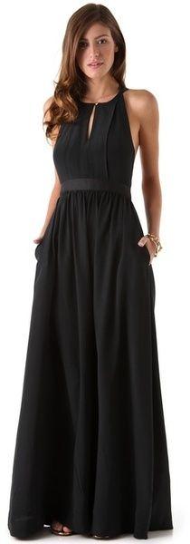 Sleeveless long maxi black summer dress