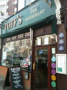 Top 10 Places for Fish & chips in London—#1, Toff's of Muswell Hill, Muswell Hill (Up hill walk from the tube keeps the tourists away.)