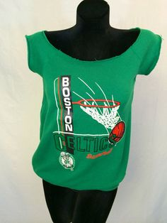 Boston Celtics Modified Sweatshirt by InTheRoughFashion on Etsy