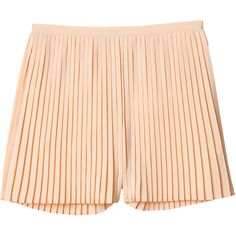 Monki Tabita trouser/skirt ($11) ❤ liked on Polyvore featuring skirts, mini skirts, shorts, bottoms, pants, peach bubblegum, pink skirt, high-waisted skirts, peach skirt and pink high waisted skirt
