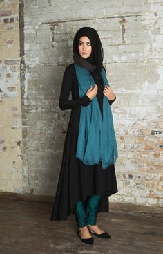 SOFT COTTON HIJAB - TEAL