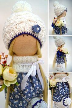 Interior doll Textile doll Cloth doll Nursery doll Fabric doll Tilda doll Handmade doll Art doll Soft doll Decor doll