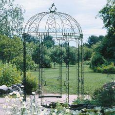 Dome topped garden gazebo