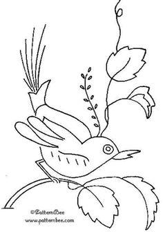 Meadowlark embroidery pattern