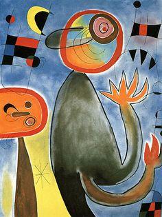Joan Miro Ladders Cross the Blue Sky 1953