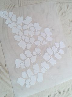 handmade card making ... embossing in in white on vellum ... gorgeous look ...