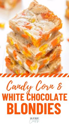 Fall Desserts, Just Desserts, Dessert Recipes, Fall Recipes, Sweet Recipes, Holiday Recipes, White Chocolate Blondies, Cupcake Cakes, Cupcakes