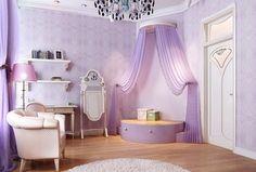 Traditional Kids Bedroom with Pendant light, Built-in bookshelf, SmartStuff Furniture - Gabriella Cheval Storage Mirror