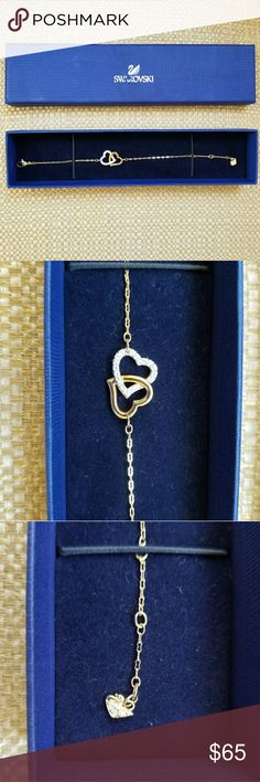 Swarovski Hearts Bracelet Rhodium and gold plated Jewelry Bracelets