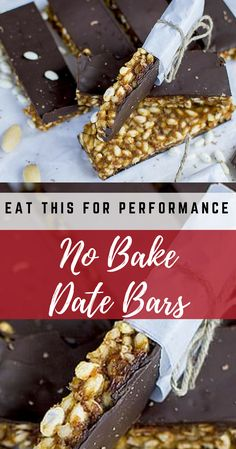 No Bake Date Bars | Energy To Prepare For Your Game! - Eat This for Performance Healthy Vegetarian Breakfast, Good Healthy Snacks, Healthy Dessert Recipes, Snack Recipes, Snack Hacks, Nut Recipes, Almond Recipes, Vegetarian Recipes, Athlete Meal Plan