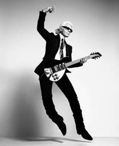 Karl Lagerfeld - radiates impeccable taste and sophistications