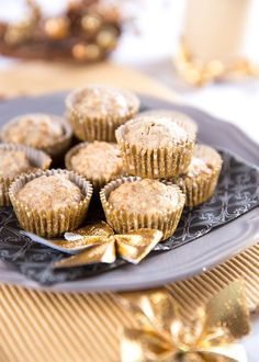 """These Apple Banana Muffins are a super alternative to """"boxed"""" cupcakes. Enjoy them as muffins with milk or your morning coffee. Apple Banana Muffins, Banana Cupcakes, Banana Bread, No Bake Desserts, Delicious Desserts, Yummy Food, Banana Recipes, Muffin Recipes, Gluten Free Zucchini Muffins"""