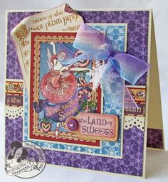 This is a beautiful Nutcracker Sweet card from @Gloria Stengel ! Love the layers! #graphic45 #cards
