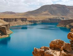 Afghanistan's first national park!!!  Highlight... this beautiful blue lake!