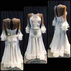 "400 Likes, 2 Comments - DLK_United Design (@dlk_united_design) on Instagram: ""Pure white creation by DLK United Design #wdsf #ballroomdress #ballroom #dlk_united_design…"""