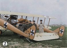 German AGO C.I of the Bayerische Feldflieger Abteilung It was popular with crews as it was relatively easy to fly and could withstand damage and still return to an airfield. The Ago types. Luftwaffe, Fokker Dr1, Ww1 History, Colorized History, Ww1 Soldiers, Old Planes, Vintage Airplanes, World War One, German Army