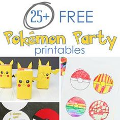 Planning a Pokemon party? Here is a list of links to 25 free Pokemon party printables! From invitations to decor, I've got it covered!
