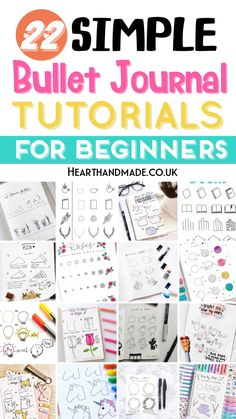 Want to find some insanely simple bullet journal doodle tutorials? These beginner friendly doodles are so easy to recreate inside your Bullet Journal!