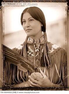 Native American Cree woman: