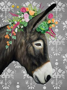 Sweetest Donkey On Gray On Canvas Or Paper In Parade - Sweetest Donkey On Gray On Canvas Or Paper April Colorful Animals Artist Biography Mixed Media Artists Wall Prints Canvas Prints Animal Drawings Farm Animals Donkeys Painting Donke Animal Paintings, Animal Drawings, Art Drawings, Donkey Drawing, Cute Donkey, Colorful Animals, Canvas Prints, Art Prints, Whimsical Art