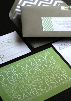 Custom Modern Wedding Invitations by Richie Designs | Oh So Beautiful Paper