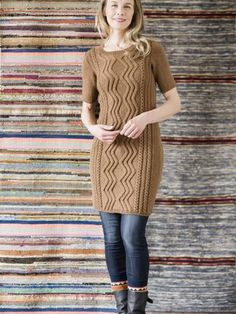Knitting Patterns Dress Free knitting pattern for a Short Sleeved Cable Dress Lace Patterns, Knitting Patterns Free, Dress Patterns, Free Knitting, Sweater Patterns, Stitch Patterns, Lace Summer Dresses, Short Lace Dress, How To Purl Knit