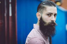 Tommy Cairns photographed Giulio Aprin from London, UK as part of Beardbrand's UK-based beard care website. View the full gallery and info at UrbanBeardsman.com.  Shop at Beardbrand.co.uk!