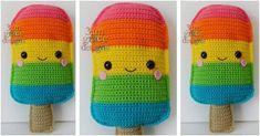 Popsicle Kawaii Crochet Cuddler [FREE Crochet Pattern]