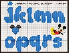 Olá meninas, hoje trouxe dois monogramas dos clássicos ratinhos Disney:                                      Espero que gostem bjkas