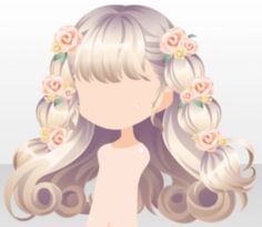 Female Anime Hairstyles, Kawaii Hairstyles, Cute Hairstyles, Pelo Anime, Overlays Picsart, Hair Sketch, Anime Dress, Cocoppa Play, Hair Reference