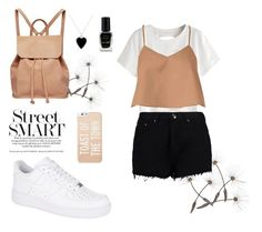 """""""Everyday cute outfit🌾"""" by diasarygina ❤ liked on Polyvore featuring Urban Originals, Boohoo, TIBI, NIKE, Jennifer Meyer Jewelry, Barry M and Kate Spade"""