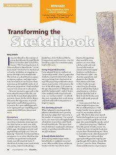 Sketchbook assignments high school