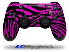 Pink Zebra - Decal Style Wrap Skin fits Sony PS4 Dualshock 4 Controller - CONTROLLER NOT INCLUDED - http://androidizen.com/shop/pink-zebra-decal-style-wrap-skin-fits-sony-ps4-dualshock-4-controller-controller-not-included/
