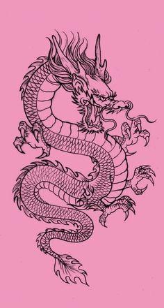 Dragon Wallpaper Iphone, Japanese Wallpaper Iphone, Iphone Background Wallpaper, Aesthetic Iphone Wallpaper, Dope Tattoos, Small Tattoos, Tattoos For Guys, Tattoo Sketches, Tattoo Drawings