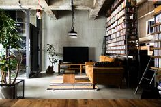 Méchant Design - japanese industrial - libary - vintage - interior - love