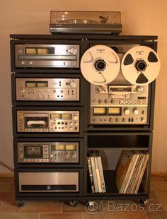 SONY rack with Reel to Reel recorder Hifi Amplifier, Hifi Stereo, Hifi Audio, Audiophile, Audio Rack, Retro Appliances, Audio Music, Vintage Room, Room Planning